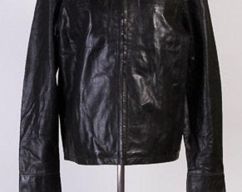Vintage jacket,Man leather jacket,Brand jacket,Soft leather, Black leather jacket, 100% leather jacket, slim fit jacket, stylish jacket,