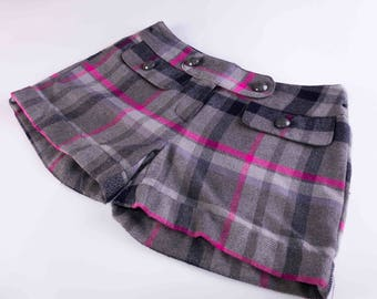 Girl shorts,Checked shorts,Plaid shorts,Winter shorts,Size height 152 cm
