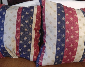Americana Throw Pillows Set Of Two