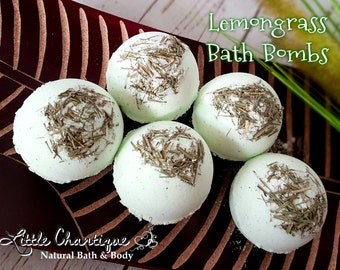 Lemongrass Bath Bombs  | Natural Bath Bomb | Bath Fizzies | Vegan Bath Bomb | Bath Fizzy Bombs |Ve Aromatherapy | Gift for her