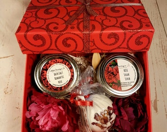 Bath Spa Gift Sets |  Valentines Day Gift | Personalized Gift Set  | Bridesmaids Gifts Bath Set | Gifts for her | Girlfriend Gift