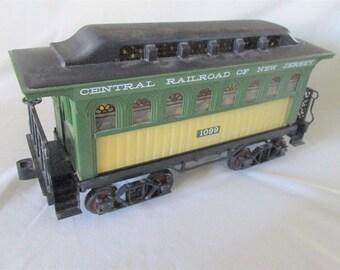 1981 Liquor Decanter Passenger Train Car Jim Beam Central Railroad of New Jersey Empty