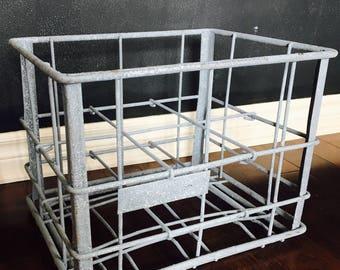 vintage milk crate etsy. Black Bedroom Furniture Sets. Home Design Ideas