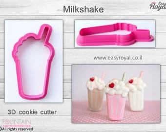 Milkshake - 3D cookie cutter