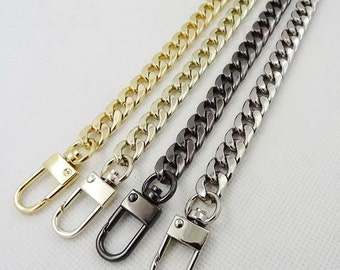 9mm Gold silver gunmetal Chain Strap purse strap handles bag hadnbag Purse Replacement Chains Purse  Finished Chain straps High Quality
