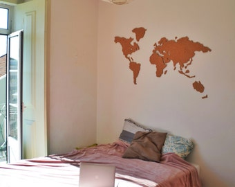 HANDMADE cork world map - SPECIAL May offer!