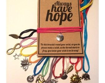 Have hope wish charm bracelet