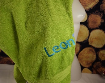 Towel embroidered individually, I stick their vanity name, towel with name