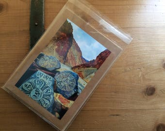 Handmade Card with Image of Mani Stones