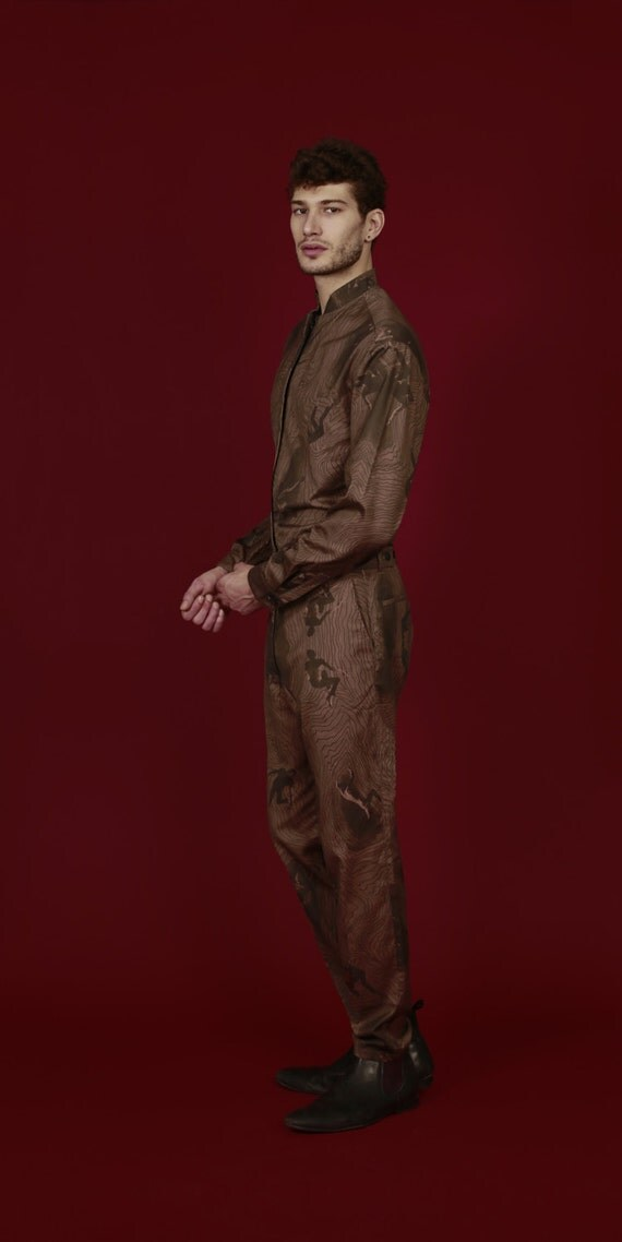 Mens-Overall Onesuit schlanke Passform Overall SS18