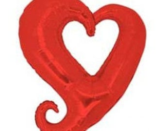 90CM HEART SHAPED RED Large Foil Balloon