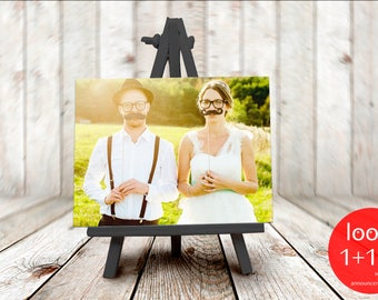 Girlfriend Photo Gift, Photography, Picture Frame,Home Decor, Wedding Decor, Shabby Chic Decor, Conceptual Packaging, Photo on Mini Easel