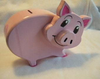 All Wood Pink Piggy Bank