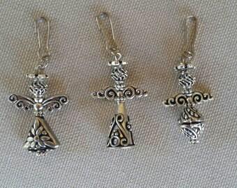 Guardian Angel Zipper Pulls / Angel Charms / Angel Purse Charms / Jacket Charm / Guardian Angel Charms