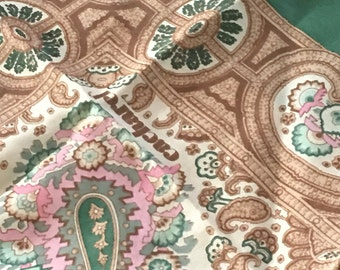 Cacherle for Saks Fifth ave. beautiful silk vintage scarf