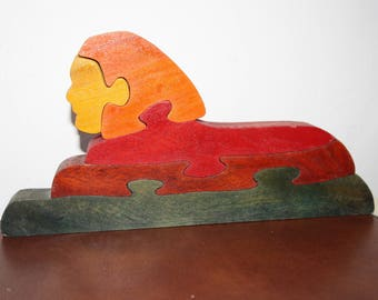 Puzzle wooden SPHYNX multicolor
