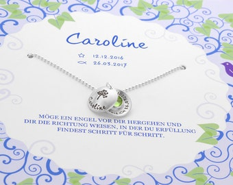 Christening necklace with gift box tree 925 Silver Chain gift tree of life