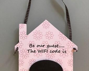 Chalk Board Wifi Code Plaque