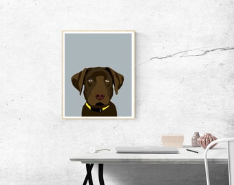 8 x 10 Archival Matte Chocolate Lab Print