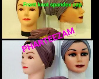 Front Knot Spandex Cap