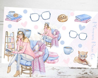 Deco Planner Stickers // Bookworm // Book of the Month // Reading