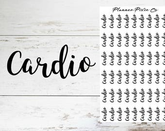 Planner Stickers // Script // Cardio // Workout