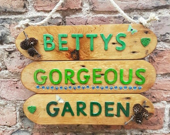Custom garden signs Etsy