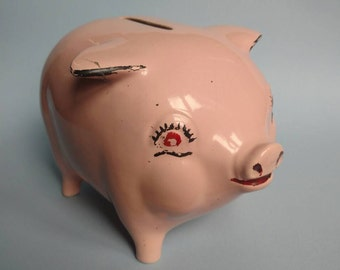 Cute Arthur Wood Pink Piggybank