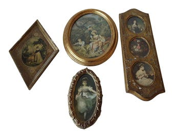 Florentine Frame Collection Gold Gilt Gilded Vintage Italian