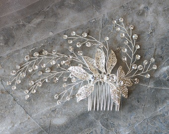 Vintage Rhinestone Wedding Hair Pin, Bridal Accessories