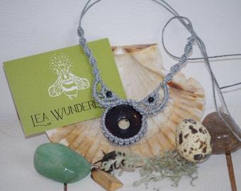 Blue Macrame Necklace