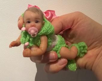 """OOAK polimer clay baby """"Marta"""" 4.7 in by V.Vihareva-Pechenkina"""