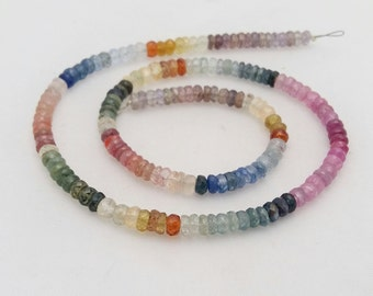 """Multi sapphire faceted beads ,4 mm,14""""strand[E0003]"""
