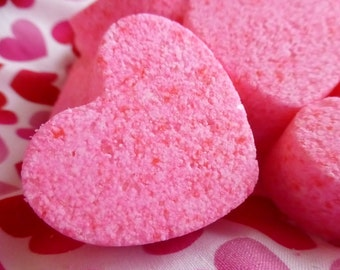 20 HEART BATHBOMBS, bathbomb, heart, bath bomb, present, gift, favor, hostess,  wedding, shower, wedding, anniversary, unique, women, kids