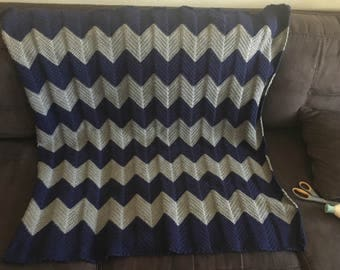 Chevron baby blanket.  Made to order