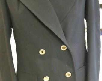 Vintage 1980's Celine Black Blazer gold buttons