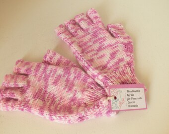 Pink and White Texting Mitts/Mittens - Ideal For A Teenager or Adult - One Size - Charity Listing