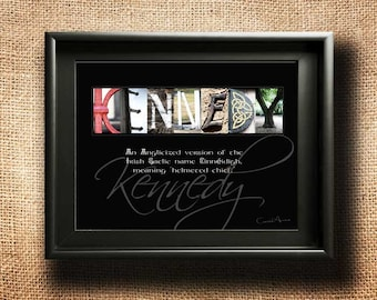 Name Meaning, DIGITAL, Surname Meaning | Any Name A-Z | Last Name Origin | Unique Wedding Gift Idea | Alphabet Photography | Family Name Art
