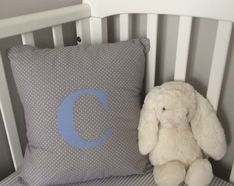 Cushion- Personalised Initial Cushion- Personalised Nursery Bedding