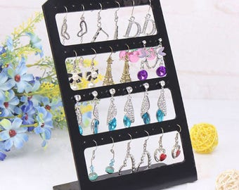 48 Holes Small Plastic Earring Holder Display Stand