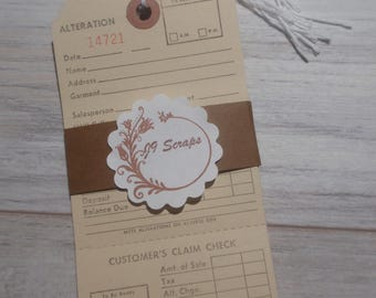 Alteration Tag - Shabby/Vintage