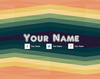 Customized Zigzag YouTube Banner