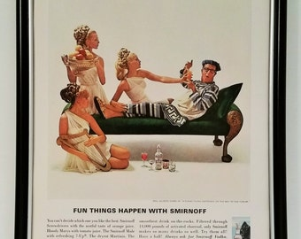 1967 Smirnoff Vodka Phil Silvers A Funny Thing Happened On The Way To The Forum Original Full Page Magazine Print Ad Vintage 60s