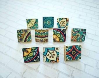 Ceramic Mosaic stud Earrings