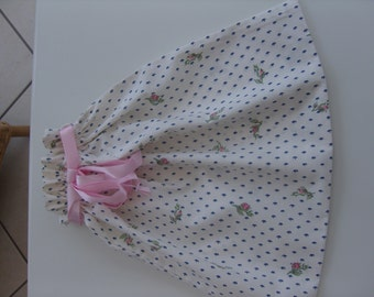 Lingerie/Underwear Bag Ivory with Rose Pattern.Polyester Cotton.Machine Washable. Drawstring Top.Hand Made in Lancashire.