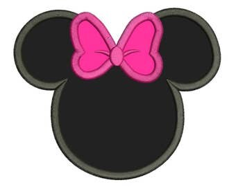 Character Inspired Minnie Mouse Embroidery Applique Design