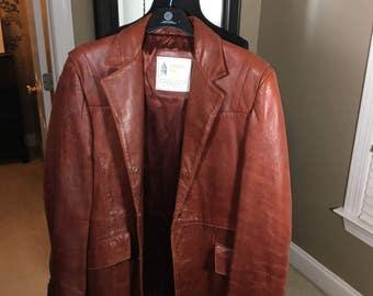 Men's Vintage Leather Jacket 70's London Fog