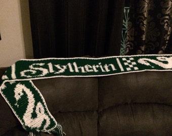 Handmade Harry Potter Slytherin scarf