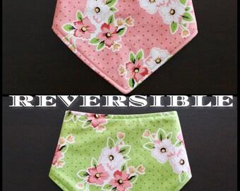 Reversible Floral Baby Bandana Bib