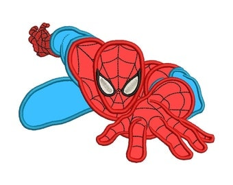 Spiderman Applique Embroidery Design - 4 SIZES